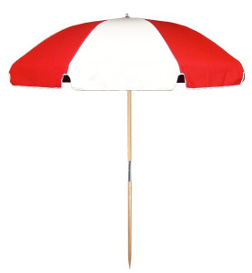 6.5′ BEACH UMBRELLA WITH STEEL SKELETON Stock Fabric:$139.00 Custom Fabric:$179.00