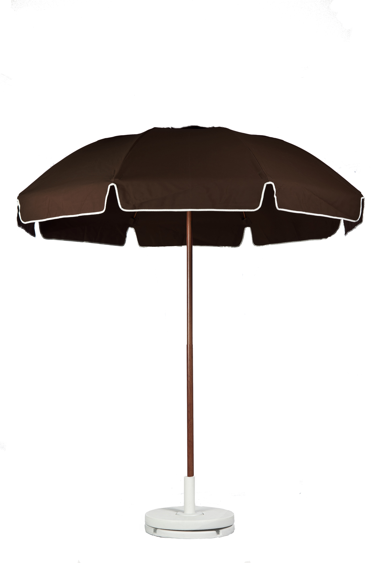 7.5′ PATIO UMBRELLA WITH FIBERGLASS SKELETON WITH VALANCE NO VENT Stock Fabric:$199.00 Custom Fabric:$249.00 *Tilt Available For An Additional $10.00