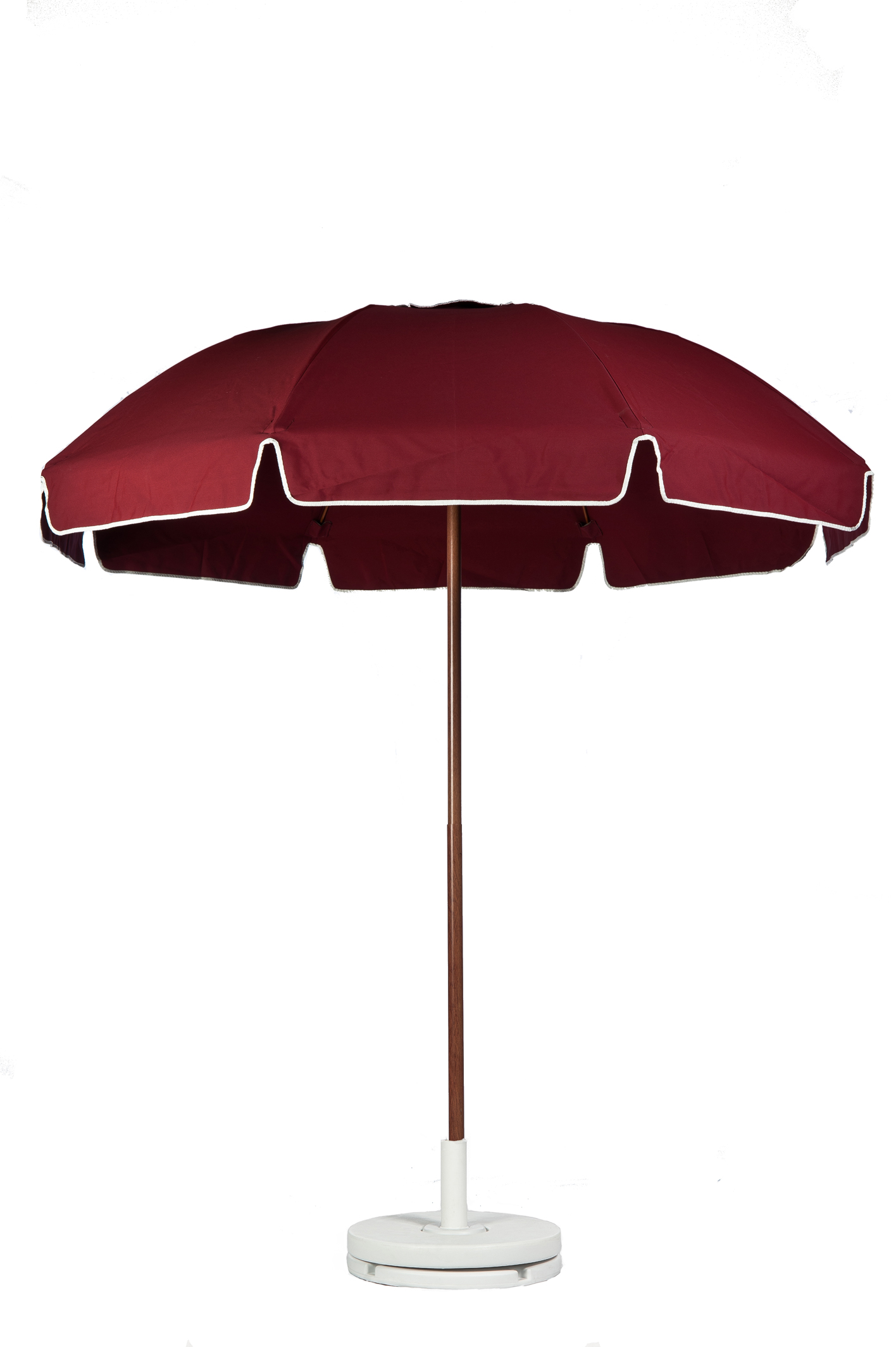 7.5′ PATIO UMBRELLA WITH FIBERGLASS SKELETON WITH VALANCE & VENT Stock Fabric:$219.00 Custom Fabric:$279.00 *Tilt Available For An Additional $10.00