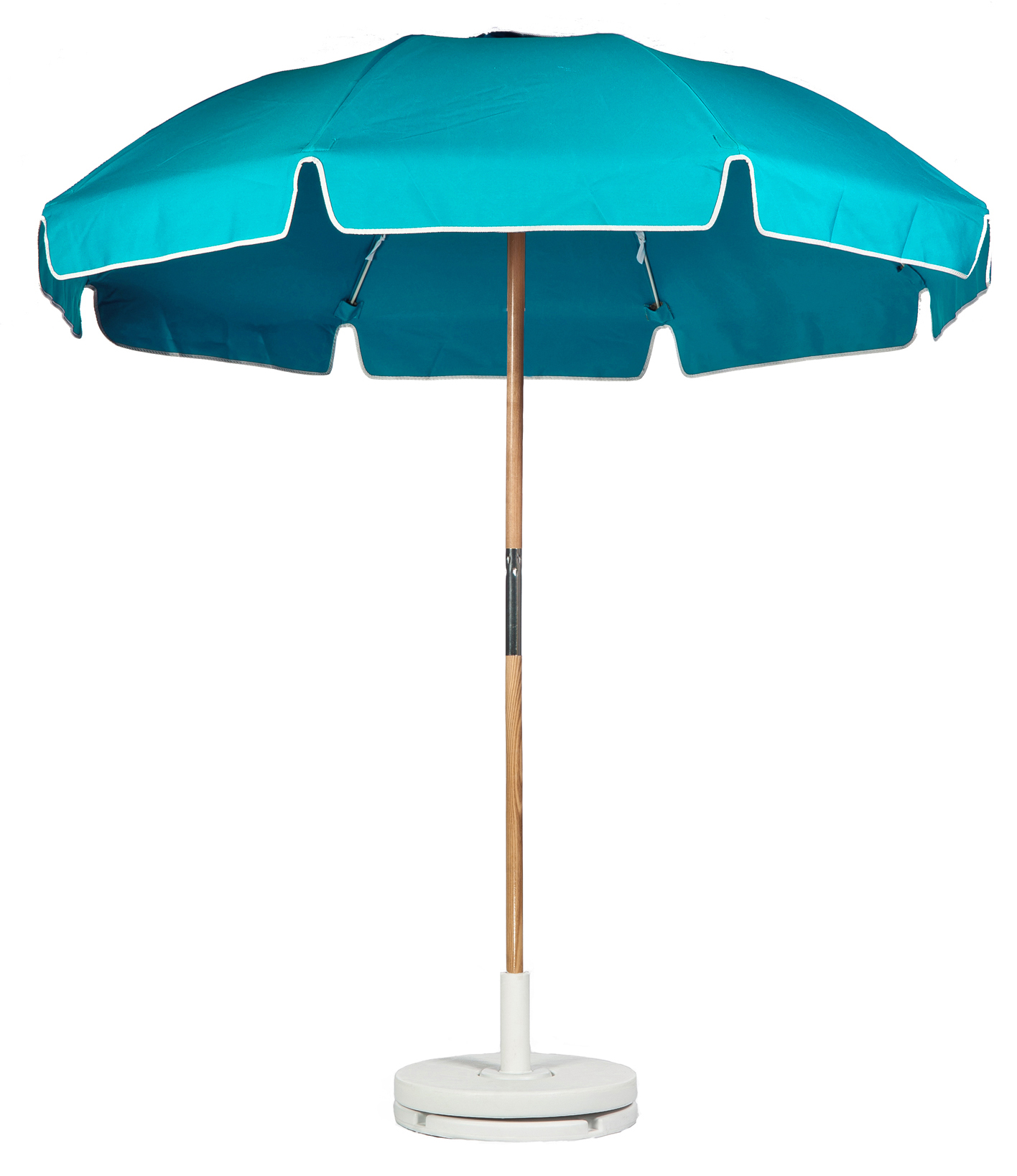 7.5′ BEACH UMBRELLA WITH FIBERGLASS SKELETON WITH VALANCE Stock Fabric:$189.00 Custom Fabric:$229.00