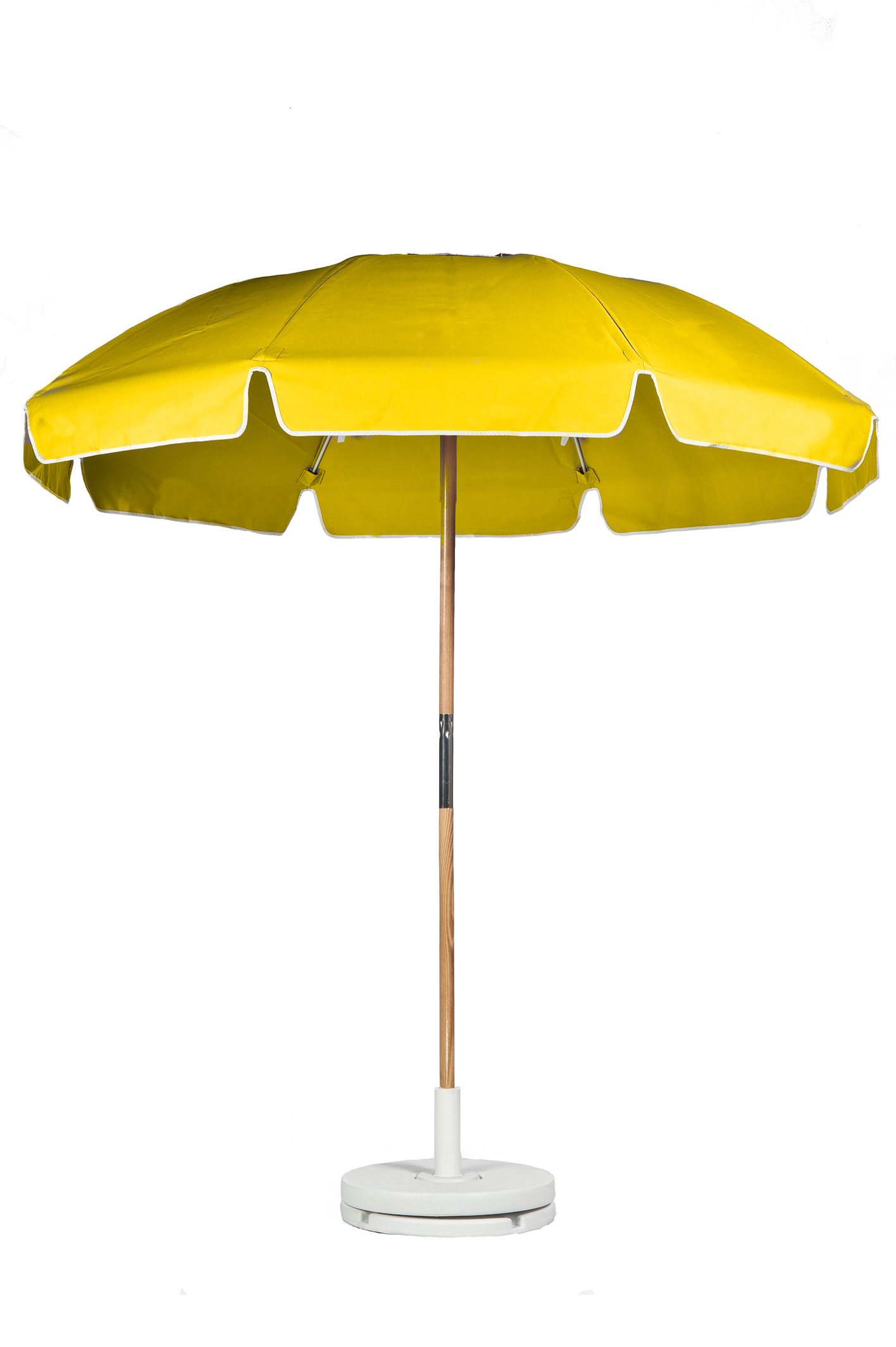 7.5′ BEACH UMBRELLA WITH FIBERGLASS SKELETON WITH VENT & VALANCE Stock Fabric:$199.00 Custom Fabric:$249.00