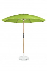 7.5′ BEACH UMBRELLA WITH FIBERGLASS SKELETON WITH VENT & NO VALANCE Stock Fabric:$199.00 Custom Fabric:$249.00