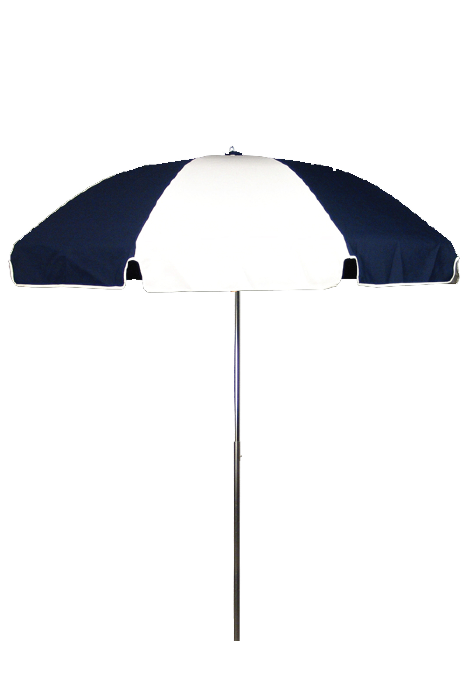 7.5′ PATIO UMBRELLA WITH STEEL SKELETON Stock Fabric:$159.00 Custom Fabric:$199.00 *Tilt Available For An Additional $10.00 *Crank & Tilt Available For An Additional $20.00 Silver Pole Only