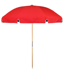 7.5′ BEACH UMBRELLA WITH STEEL SKELETON Stock Fabric:$159.00 Custom Fabric:$199.00