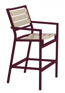 CABANA CLUB SLAT BAR STOOL WITH ARMS 591026MS