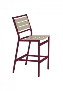 CABANA CLUB SLAT ARMLESS BAR STOOL 591429MS-28