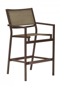 CABANA CLUB SLING BAR STOOL WITH ARMS 591026