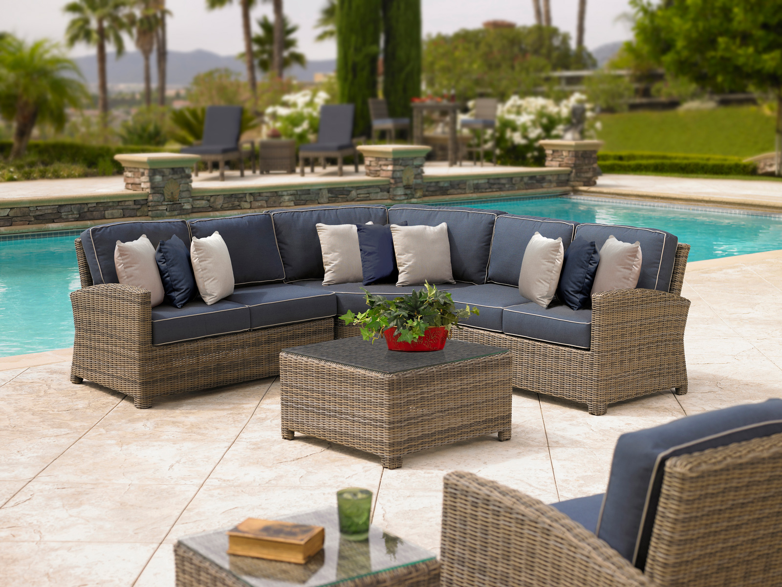 Catalina commercial outdoor furniture at low prices for Outdoor furniture wicker