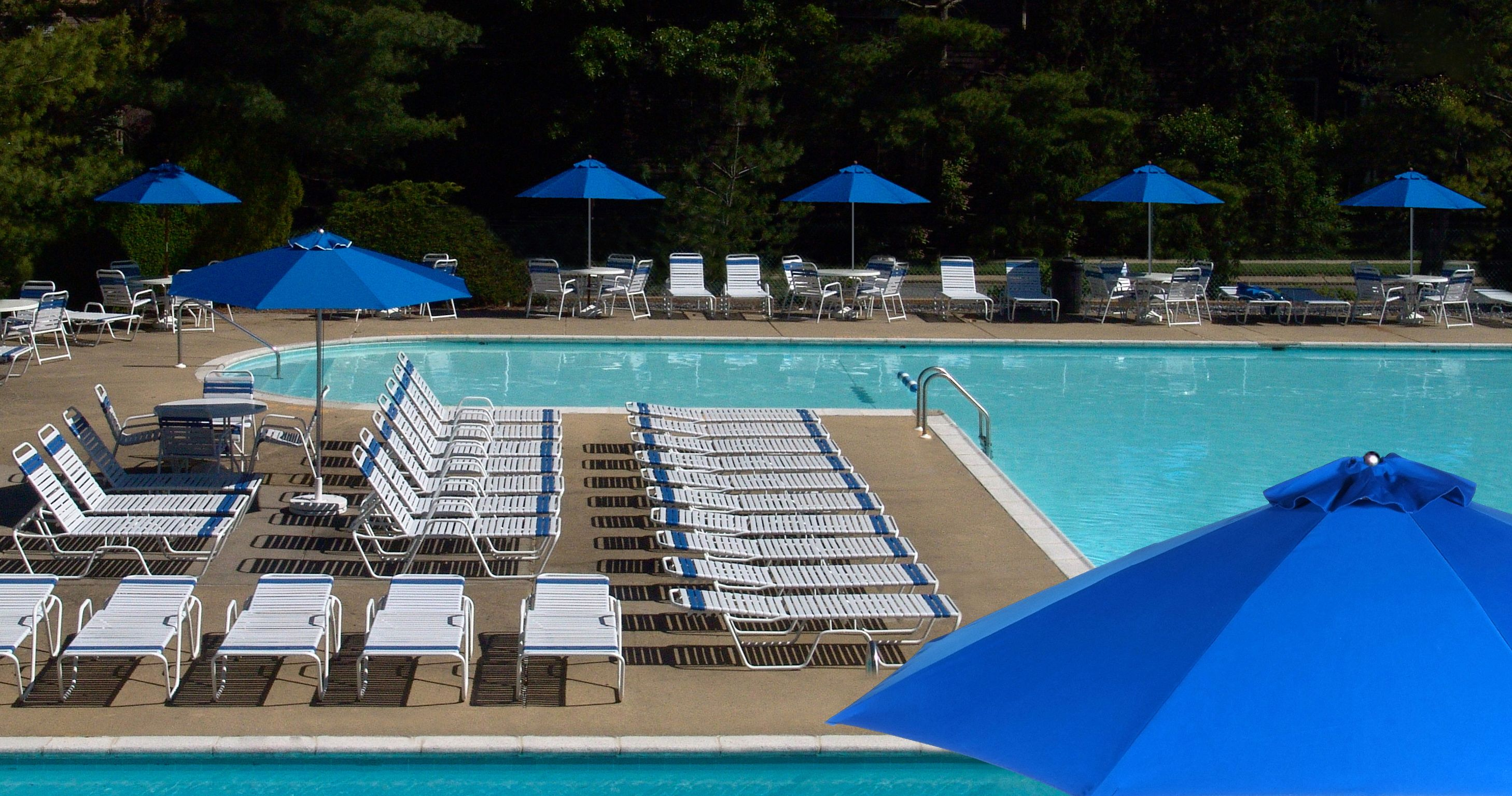 Country Club Strap Commercial Pool Furniture Resort