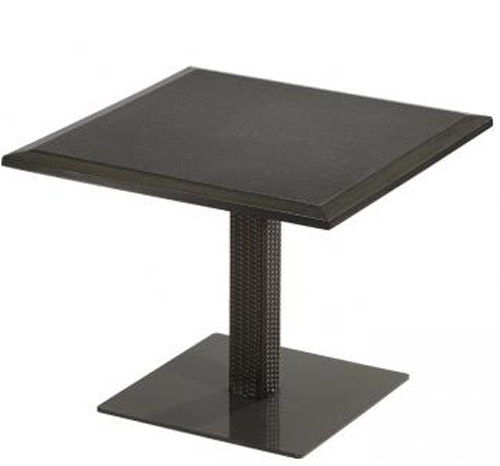 PEDESTAL DINING TABLE WITH WOVEN BASE 360936B