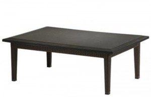 COFFEE TABLE WOVEN BASE 360953B