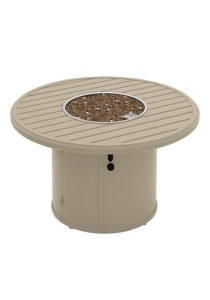 BANCHETTO 42″ ROUND FIRE PIT. SHOWN IN ALMOND SILK 401442FP