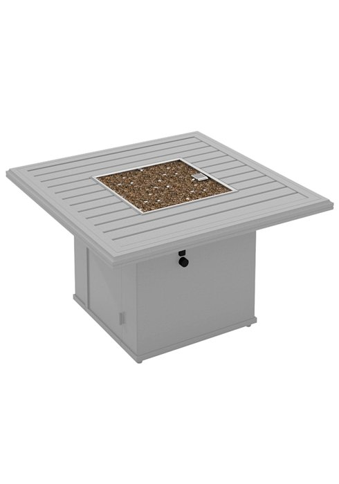 BANCHETTO 42″ SQUARE FIRE PIT. SHOWN IN ALUMINUM METALLIC 401443FP
