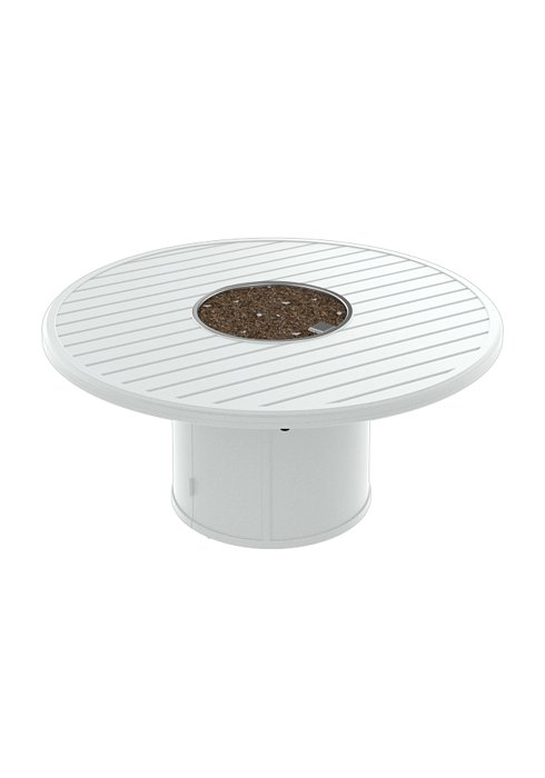 BANCHETTO 54″ ROUND FIRE PIT WITH ROUND BASE.  SHOWN IN SNOW 401554FP