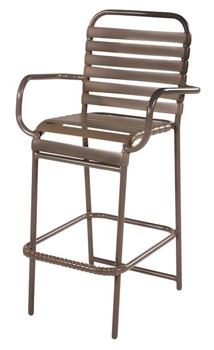 STRAP BAR STOOL WITH ARMS W1775A $169.00