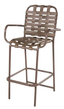 CROSS WEAVE STRAP BAR STOOL WITH ARMS W1775ACW $169.00