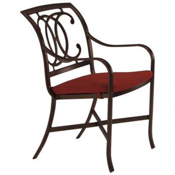 PALLADIAN DOUBLE C CAST SEAT ARM CHAIR WITH PAD 21002405