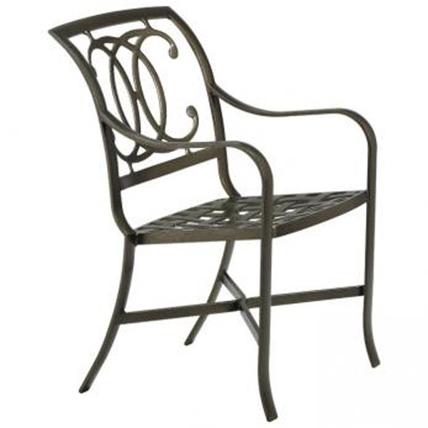 PALLADIAN DOUBLE C CAST SEAT ARM CHAIR 210024