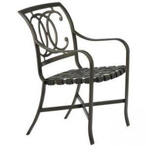 PALLADIAN DOUBLE C STRAP SEAT ARM CHAIR 220024