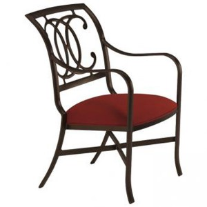 PALLADIAN DOUBLE C TIGHT SEAT ARM CHAIR WITH PAD 22002409