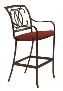 PALLADIAN DOUBLE C CAST SEAT BAR STOOL WITH PAD 22002605