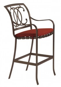 PALLADIAN DOUBLE C STRAP SEAT BAR STOOL WITH PAD 22002605