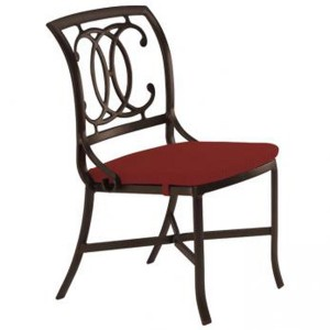 PALLADIAN DOUBLE C CAST SEAT SIDE CHAIR WITH PAD 21002805