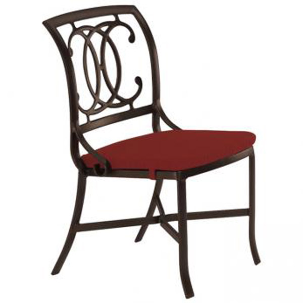 PALLADIAN DOUBLE C STRAP SEAT SIDE CHAIR WITH PAD 22002805