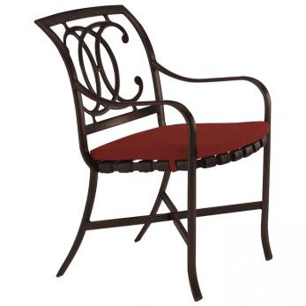 PALLADIAN DOUBLE C STRAP SEAT ARM CHAIR WITH PAD 22002405