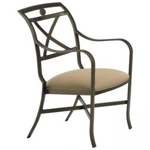 PALLADIAN X BACK TIGHT SEAT ARM CHAIR 10992409