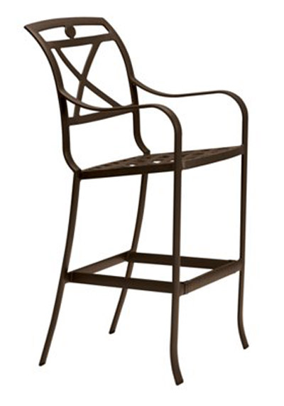 PALLADIAN X BACK CAST BAR STOOL 170026