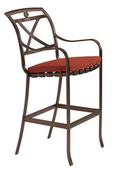 PALLADIAN X BACK STRAP SEAT BAR STOOL WITH PAD 10992605