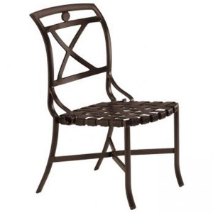 PALLADIAN X BACK STRAP SEAT SIDE CHAIR 109928