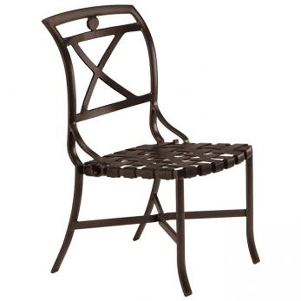 PALLADIAN X BACK STRAP SEAT SIDE CHAIR 109928