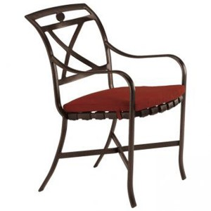 PALLADIAN X BACK STRAP SEAT ARM CHAIR WITH PAD 10992405