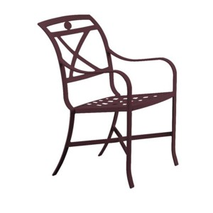 PALLADIAN X BACK CAST SEAT DINING CHAIR 170024