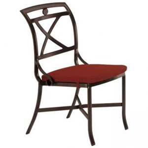 PALLADIAN X BACK CAST SEAT  SIDE CHAIR WITH PAD 17002805