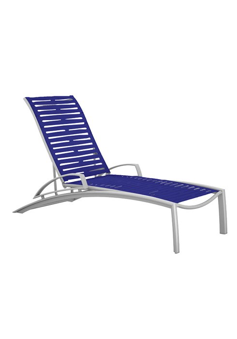 SOUTH BEACH EZ SPAN CHAISE WITH ARM-RIBBON 231433RB