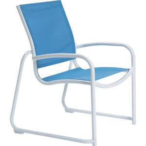 MILLENNIA RELAXED SLING SLED BASE DINING CHAIR 220425