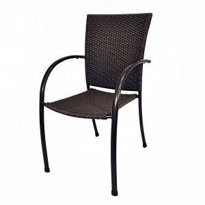 PILANO WOVEN CHAIR-BLACK C0981-0249
