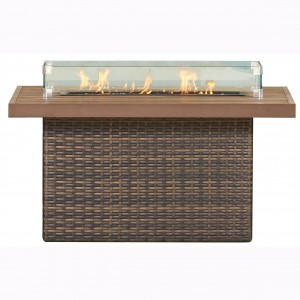 48″x36″RECTANGULAR WOVEN BASE WITH DURA WOOD TOP FIRE PIT RC1505 $1519.00