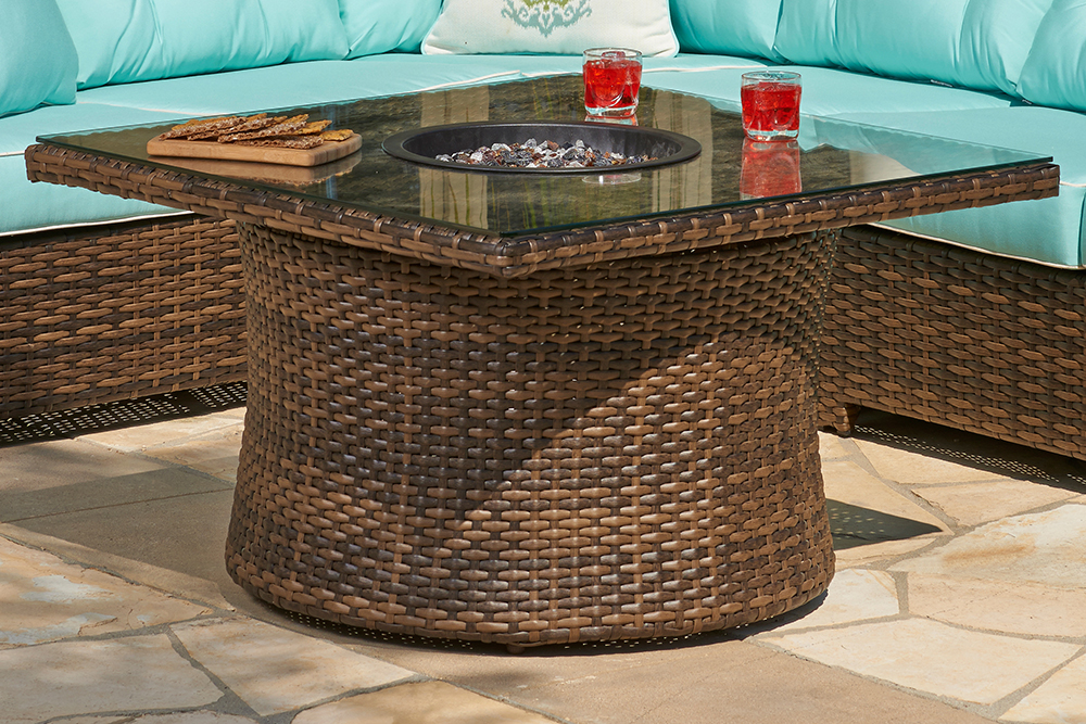 Resort Wicker Fire Pit Box