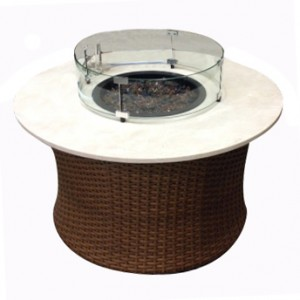 42″ROUND WOVEN BASE WITH STONE TOP FIRE PIT RC1502 $1859.00