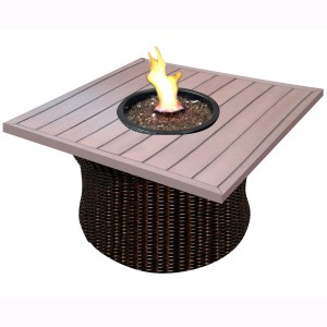 42″WOVEN BASE WITH  SQUARE DURA TOP FIRE PIT RC1506 $1429.00