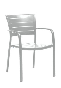 ESSO ARM CHAIR-SILVER 2M1324