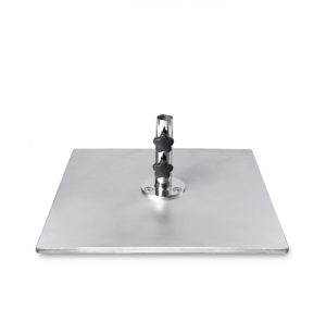 20″ Square Galvanized Steel Plate Base