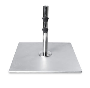 24″ Square Galvanized Steel Plate Base