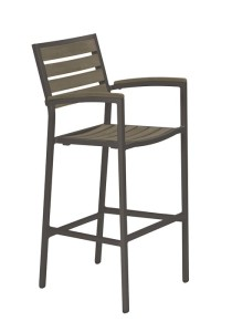 JADO BAR STOOL WITH ARMS-CHARCOAL 2J1326ARM