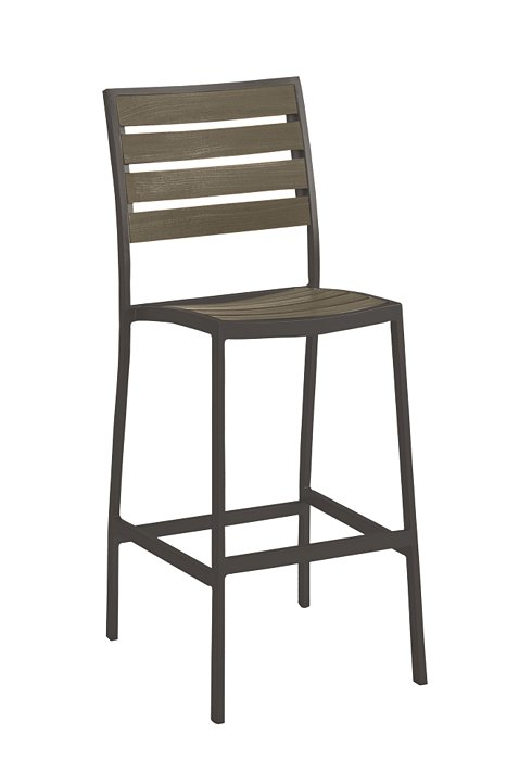 JADO ARMLESS BAR STOOL-CHARCOAL 2J1326
