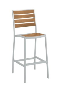 JADO ARMLESS BAR STOOL-SILVER 2J1326
